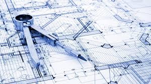 Architecture design compass blueprint wallpaper 114907