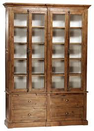reclaimed wood glass door cabinet traditional storage cabinets by design mix furniture