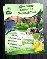 Sample Flyers For Landscaping Business Landscape Flyer Design Acollege4u Info