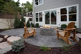 stamped concrete patio with fire pit cost. Sumptuous Stamped Concrete Cost Method Minneapolis Traditional Patio Image Ideas With Adirondack Chairs Firepit Gray House Sliding Fire Pit E