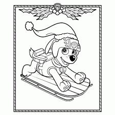 Paw Patrol Kleurplaten Leuk Voor Kids Beste Paw Patrol Kerst20 In