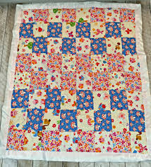 Baby Silky Soft Cuddle Quilted Blanket | The Stitching Scientist & This quilt top took 5 fat quarters. I got a simple bundle at Joann's. I  fell in love with the mushroom blue and decided to feature it in a checker  pattern. Adamdwight.com