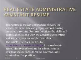 Key Skills Resume Administrative Assistant Real Estate Administrative Assistant Resume 6
