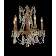 worldwide lighting w83304fg18 cl windsor 5 light french gold finish and clear crystal chandelier
