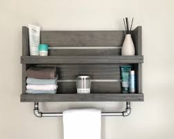 galvanized pipe towel bar wall mounted