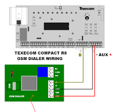 gsm dialer advent controls blog page 3 Gsm Cooper Wiring Diagram wiring a gsm dialer to the texecom compact r8 alarm panel Cooper Eagle Wiring Devices