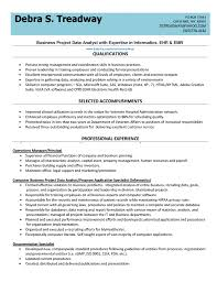 Sample Resume Of A Business Analyst Sample Resume Business