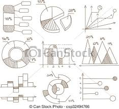 Hand Drawn Pie Chart Graphs Pie Charts And Diagrams Hand Drawn Business Icons Set