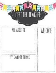 Meet The Teacher Letter Templates Meet The Teacher Template Letter Meet The Teacher Template