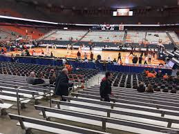 Carrier Dome Section 108 Syracuse Basketball