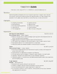 Sample Professional Resume Format For Experienced Best Graduate
