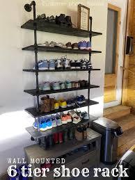 wall mounted shoe rack wall rack for
