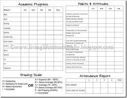 Sample School Report Interesting Homeschool Report Cards Engneeuforicco