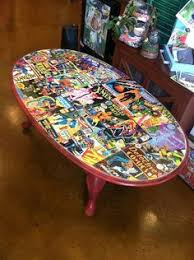 comic book furniture. iu0027m trying to figure out what do with my super ugly table and this is actually quite nice problem i donu0027t think could bring myself tear a comic book furniture