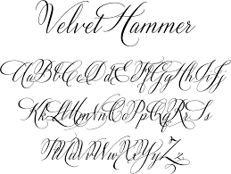 Calligraphy Fonts Velvet Hammer Is A Classical Calligraphy Font Designed By