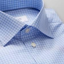 Chex Shirt Design Sky Blue Check Shirt Slim Eton Global