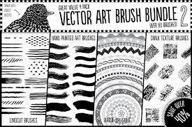 Vector Art Brush Bundle 2 Illustrator Add Ons Creative Market