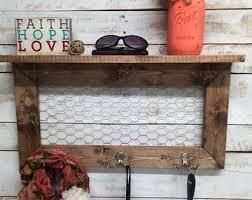 Floating Entryway Shelf Coat Rack Rustic home decor entryway shelf coat rack galvanized 65