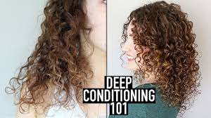 how to deep condition curly hair for