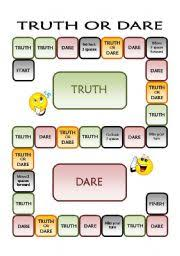 Truth Or Dares Truth Or Dare Worksheets
