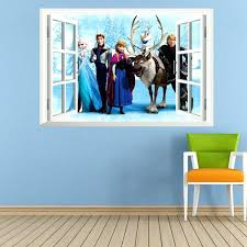 window wall stickers frozen wall stickers home decor window wall stickers removable wall decals art of frozen kid room