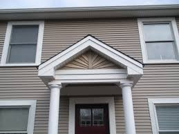 Vinyl Siding And Aluminum Trim System The Gabled Entry Has A - Exterior vinyl siding