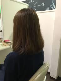 アデプトヘアー石崎さんのヘアスタイル 加工一切なし カットカラ