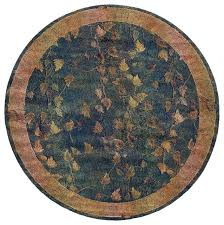 oriental weavers kharma 349b4 blue gold border area rug 6 round