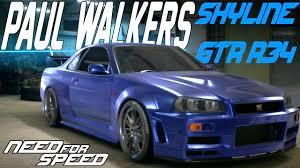 nissan skyline r34 paul walker. Unique Paul Need For Speed 2015  PAUL WALKERu0027S NISSAN SKYLINE GTR R34 CUSTOMIZATION U0026  DRIFT BUILD  YouTube And Nissan Skyline Paul Walker E