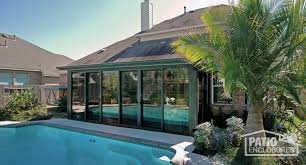 sunroom picture bronze aluminum frame with single slope roof