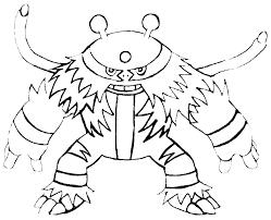Electivire Pokemon Disegno Da Colorare