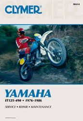 yamaha motorcycle manuals diy repair manuals clymer yamaha it125 490 motorcycle 1976 1986 service repair manual