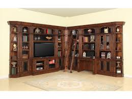 library unit furniture. parker house leonardo library wall with entertainment unit and builtin desk furniture