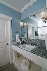 tile bathroom countertop ideas. bathroom vanity countertop and backsplash in blue mosaic tile - coastal retreat guest bath traditional (by southern studio interior design) ideas