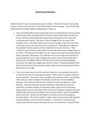 anatomy study resources 2 pages bp regulation essay wiith answers