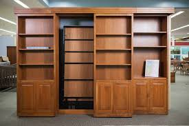 bookcase wall bed.  Bookcase Sliding Bookcase Murphy Bed  Dutch Haus Custom Furniture Sarasota Florida Inside Wall R