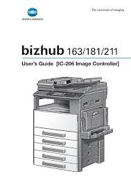 Konica minolta bizhub 206 copier parts. User S Guide Ic 206 Image Controller Konica Minolta
