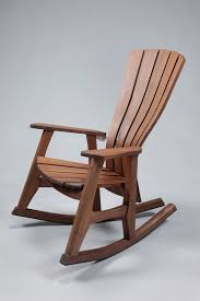 outdoor wooden rocking chairs back