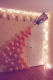 Bachelorette party balloons idea - DIY champagne balloon photo backdrop  {Courtesy of Just a Virginia