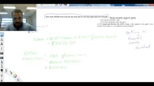 realtor commission calculator how to calculate real estate commission selling a house youtube