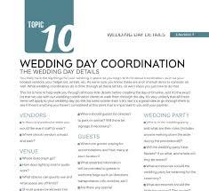 Wedding Coordinator Checklist Wedding Day Details Checklist