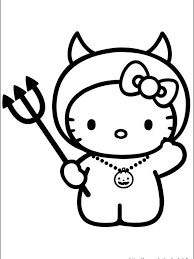 Click a picture to begin coloring. 3 Hello Kitty Halloween Coloring Pages Coworksheets