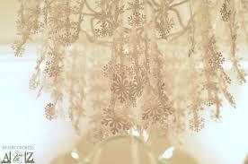 paper snowflake chandelier