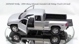 22076 4D Welly 1999 Chevy Silverado Extended Cab Pickup Truck 124 ...