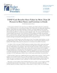 tanf cash benefits have fallen by more than percent in most  file type icon