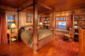 Log Cabin Bedroom Decorating Log Cabin Daccor In Timeless Style The House Decor