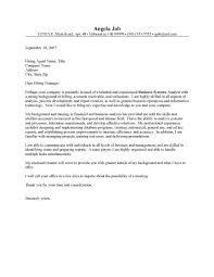 System Analyst Cover Letter Systems Analyst Cover Letter Sample Pernillahelmersson