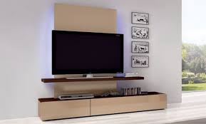 Chic Wooden Wall Mounted TV Design