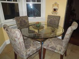 dining table parson chairs interior: decorative parsons chairs with glass top dining table for traditional dining room design