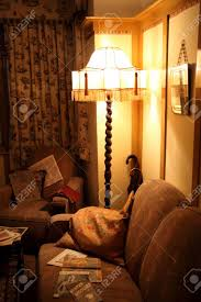 Old Fashioned S Living Room Interior With A Standard Lamp - Livingroom deco